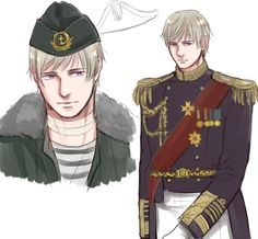 Russia in military uniforms ^~^