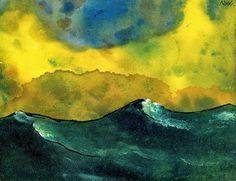 "Emil Nolde: ""Mar verde""."