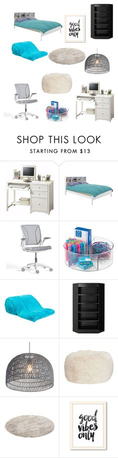 """""""jane bedroom"""" by koalamacaron ❤ liked on Polyvore featuring Home Decorators Collection, Sonax, Pottery Barn, Liska, Zuo, PBteen and bedroom"""