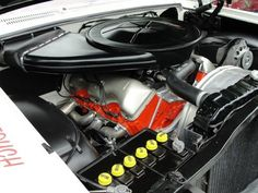 Chevrolet 427 W engine Chevrolet Impala 1963, Chevy Motors, Car Engine, Super Sport, Muscle Cars, Classic Cars, Automobile, Engineering, Big