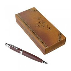 Ted Baker Mens Brown Brogue Pen in Gift Box