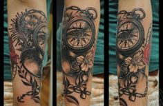 Compass sleeve Tattoo - 40 Awesome Compass Tattoo Designs  <3 <3