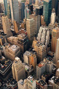 Urban city aerial view