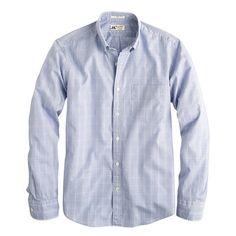 J.Crew - Slim Thomas Mason for J.Crew shirt in glen plaid
