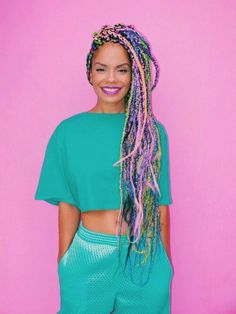 Box braids are a timeless style because of their simplicity but ability to appeal to everyone. Check out our list of 60 box braids hairstyles for black women. Box Braids Hairstyles, Cool Hairstyles, Hairstyle Braid, Hairstyles 2016, Summer Hairstyles, Afro Punk, Colored Box Braids, Curly Hair Styles, Natural Hair Styles