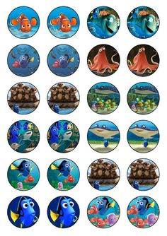 Finding Dory / Nemo cupcake toppers edible rice paper. in Home & Garden, Parties, Occasions, Cake | eBay