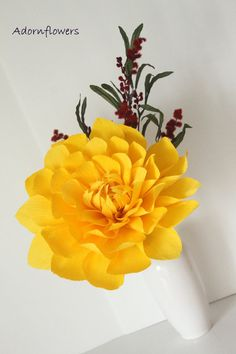 Large paper flower-Dahlia for wedding,table decor and centerpiece via Etsy