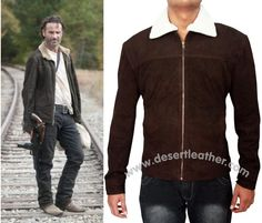 Enhance your appearance to prefer this Rick Grimes Walking Dead Season 4 Jacket and rock in the path of fashion.This masterpiece is highly marvelous to make a desirable outlook. Make your order now!!! #RickGrimes #TheWalkingDead #SuedeLeather #everydaystyle #maleFashion