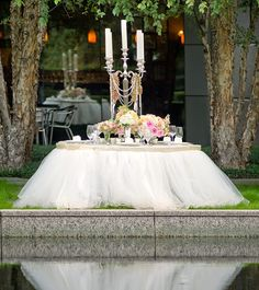 Wedding Table Design a watercolor wedding awash in lavender blush Beautiful For The Cake Table Gorgeous Table Design Google Image Result For
