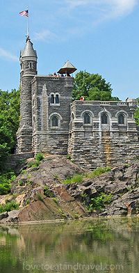 Belvedere Castle, Central Park, with Turtle Pond in front of it. Bobby's favorite place to eat lunch.