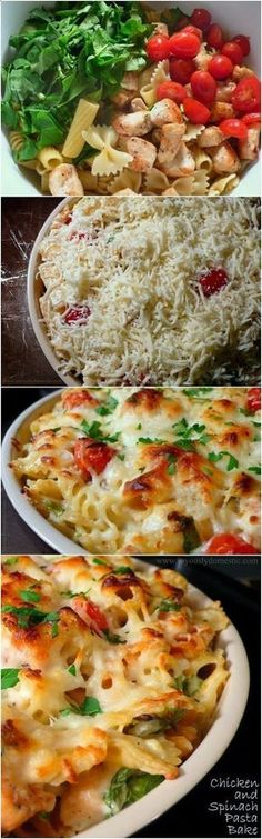Chicken and Spinach Pasta Bake, but with spaghetti squash instead!!
