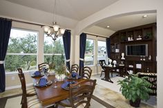Everything's Included by Lennar, the leading homebuilder of new homes for sale in the nation's most desirable real estate markets. Ryland Homes, New Homes For Sale, Real Estate Marketing, San Antonio, Dining Rooms, Building A House, Eat, Table, Model