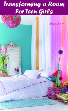 28 Nifty Purple and Teal Bedroom Ideas This room is perfect for a child or teenager who has two favorite colors. The teal walls are [. Bright Bedroom Colors, Purple Bedrooms, Neutral Bedrooms, Bedroom Color Schemes, Trendy Bedroom, Bright Colors, Colourful Bedroom, Bright Ideas, Modern Bedroom