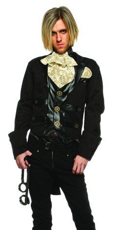 steampunk oz   Mens Steampunk Gentleman Goth Victorian Halloween Costume   eBay