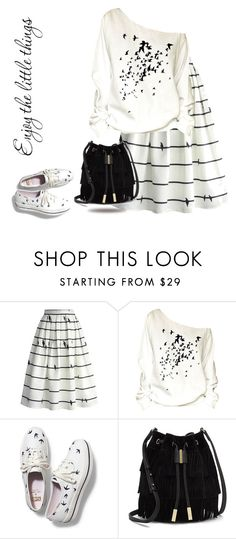 """""""Untitled #186"""" by juliehalloran ❤ liked on Polyvore featuring Chicwish, Keds and Vince Camuto"""