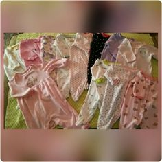Baby jammies Lot of 12 baby footie jammies. 8 are zip up 4 are button up. All size 0-3mo & 3mo. No stains. Carters and Gerber brands. Make offer. NO TRADES. Thanks for looking! Carters Other