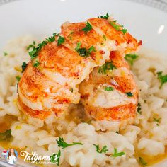 Simple, elegant idea for a seafood dinner! Butter poached lobster served over a simple risotto. Perfect for a special occasion! Lobster Risotto, Seafood Risotto, Seafood Diet, Healthiest Seafood, Seafood Recipes, Easy Lobster Recipes, Seafood Stock, Butter Poached Lobster Tail, Lobster Dishes
