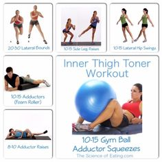 If you need to work on jiggling thighs here's the workout for you!  It focuses on the Adductors and Abductors which are the muscles of the inner and outer thigh.