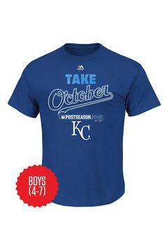 Kansas City Royals Youth 4-7 Locker Room 2015 Postseason T-Shirt http://www.rallyhouse.com/Kansas-City-Royals-Youth-4-7-Locker-Room-2015-Postseason-T-Shirt?utm_source=pinterest&utm_medium=social&utm_campaign=150924CLINCH-KCRoyals $20.00