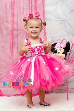 Pink Mouse Tutu Birthday Party Dress 1st 2nd 3rd 4th 5th   Tutu ...