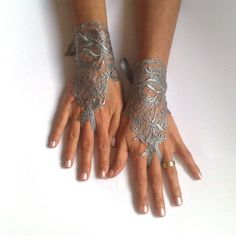 lace gloves fingerless - Google Search
