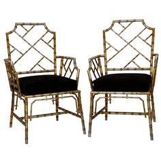 Metal Faux Bamboo Chairs