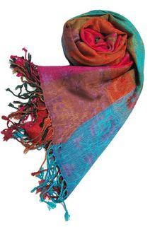 46c4a470542c Rainbow-rose Floral Paisley Shawl Wrap Scarf Pashmina
