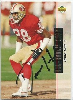 1993, Dana Hall, San Francisco 49ers, Signed, Autographed, Upper Deck Football Card, Card # 48, a COA Will Be Included