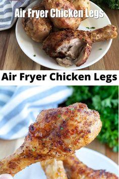 Air Fryer Recipes Videos, Air Fryer Oven Recipes, Air Frier Recipes, Air Fryer Dinner Recipes, Crockpot Chicken Leg Recipes, Air Fryer Chicken Leg Recipe, Chicken Drumstick Recipes, Air Fryer Drumstick Recipe, Fried Chicken Legs
