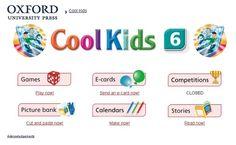 """Materiales y actividades interactivas complementarias de Inglés de 6º Nivel de Educación Primaria, """"Cool Kids"""", de Editorial Oxford."""