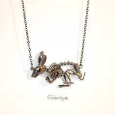 Fablerique's Bunny Skeleton Necklace is Scarily Detailed #halloween trendhunter.com