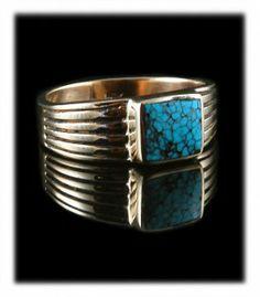 High Grade Tibetan Turquoise Gold Ring