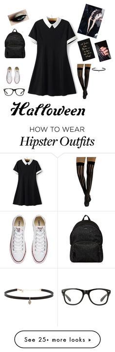 """""""Untitled #22"""" by emelikidi on Polyvore featuring Converse, Hogan, Kate Spade, Carbon & Hyde, halloweencostume and DIYHalloween"""