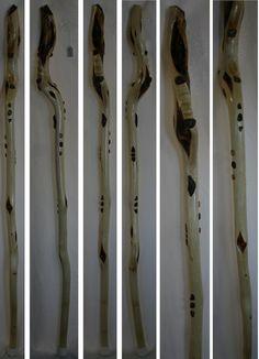 Hiking stick staff cord strip