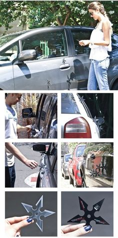A great way to catch car-owners' attention. #Guerilla #Marketing for a japanese restaurant