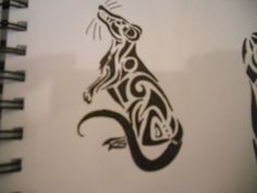 Tribal Rat Tattoo