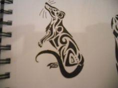 Tribal Rat Tattoo