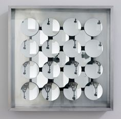 Adolf Luther Hohlspiegelobjekt, 1967 25 concave mirrors, aluminium, glass 60 x 60 x 9 cm Photo: Marcus Schneider  401contemporary, Berlin