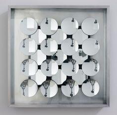 Adolf Luther Hohlspiegelobjekt, 1967 25 concave mirrors, aluminium, glass 60 x 60 x 9 cm Photo: Marcus Schneider  401contemporary, Berlin