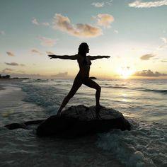 Enjoy yoga on the beach on an amazing healthy holiday.