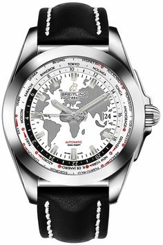 Cheap Breitling Galactic Unitime World Map White Dial Men's Watch Breitling Galactic Unitime World Map White Dial Men's. Men's Watches, Breitling Watches, Casual Watches, Sport Watches, Luxury Watches, Cool Watches, Fashion Watches, Watches For Men, Latest Watches
