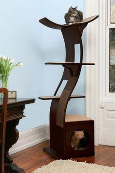 "The ""lotus"" cat tree. | 36 Pieces Of Mod Pet Furniture Nicer Than Your Actual Furniture"