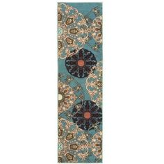 Ottomanson Ottohome Collection Contemporary Damask Design Sage Green 1 ft. 10 in. x 7 ft. Rug Runner