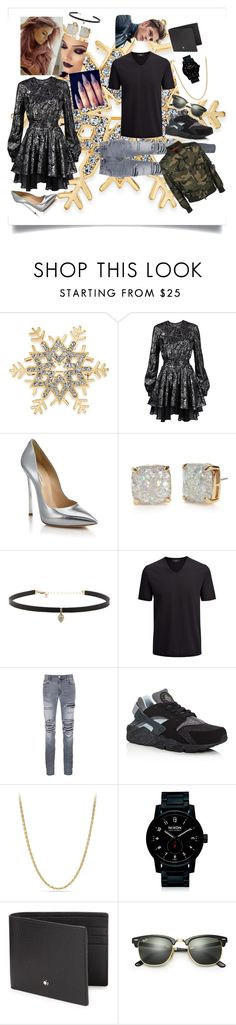 """Saturday night"" by lailakhan1 ❤ liked on Polyvore featuring Charter Club, Just Cavalli, Casadei, Kate Spade, Carbon & Hyde, Joseph, AMIRI, NIKE, David Yurman and Nixon"