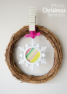 christmas wreath. love the simplicity! #JustAddMichaels