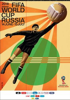 The official poster for the Russia 2018 World Cup, designed by Igor Gurovich