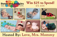 $25 Burps & Boogies Baby Photo Props Giveaway Ends 6/25 - Finding Sanity in Our Crazy Life