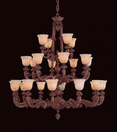 Twenty Four Light Bronze Up Chandelier : 29KY7 | Bright Light Design Center