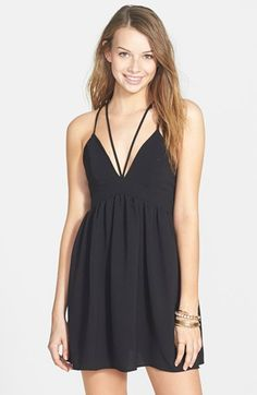 Basil Lola Strappy Babydoll Dress (Juniors) available at #Nordstrom