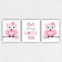 Owl Owl always love you Owl Nursery Quote Prints Owl